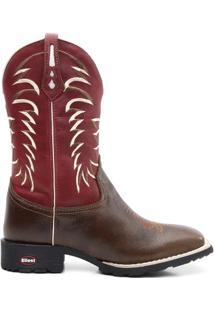 Bota Texana Crazy Horse Fossil Vinho Sangue 098 - Masculino