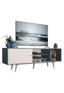 Rack Madesa Dubai Para Tv Até 65 Polegadas Com Pés - Cinza/Branco F709 Cinza
