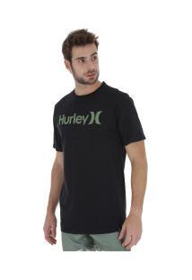 Camiseta Hurley Silk O&O Solid - Masculina - Preto