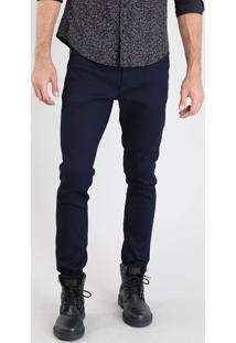 Calça Jeans Masculina Carrot Azul Escuro