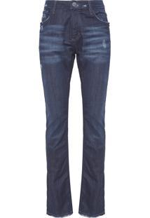 Calça Masculina Slim Asan - Azul