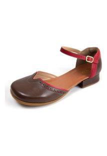 Sapato Feminino Miuzzi Tabaco / Rubi Ref: 3205