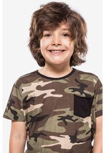 Camiseta Camuflada Niños 500011