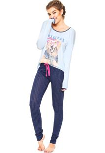 Pijama Any Any Digital Influencer Azul/ Rosa