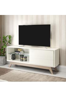 Rack Para Tv 1 Porta 140 Cm R414 Wn2 Off White/Natural - Dalla Costa