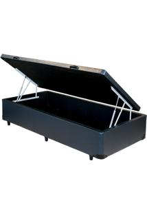 Cama Box Baú Solteiro Preta Reforçada 0,88 X 1,88