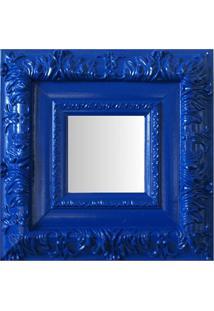 Espelho Moldura Rococó Externo 16248 Azul Art Shop