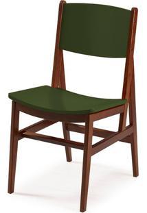 Cadeira Dumon Cor Cacau Com Verde Escuro - 30796 - Sun House
