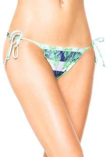 Calcinha Fiveblu String Marina Verde/Branca/Azul