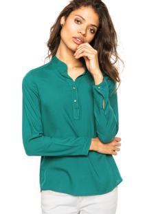 Camisa Enfim Botões Verde