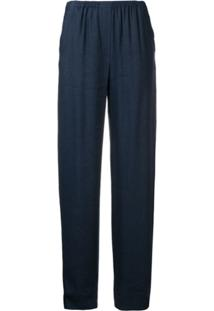 Emporio Armani Loose Fit Trousers - Azul