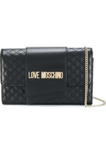 Love Moschino Quilted Chain-Strap Bag - Preto