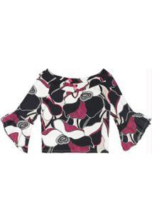 Blusa Ciganinha Canelada Rosa