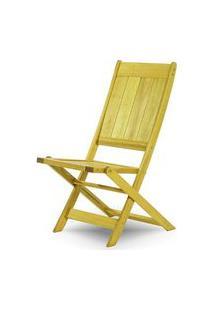 Cadeira Retangular Dobravel Acqualung+ S/Braco Amarelo 99Cm - 61637 Amarelo