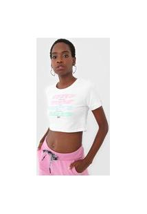 Camiseta Cropped Tricats Self Love Branca
