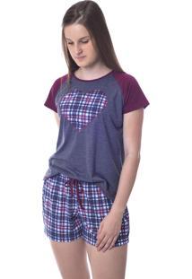 Pijama Feminino Xadrez De Verão Mania Pijamas