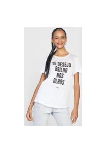 Camiseta Colcci Brilho Nos Olhos Branca