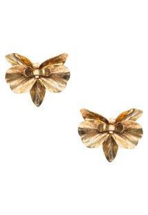 Brinco Orchidea - Dourado