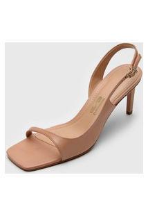 Sandália Santa Lolla Assimétrica Nude