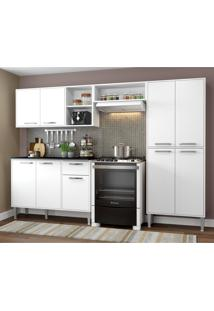 Cozinha Completa Compacta Xangai Plus Multimóveis Branco