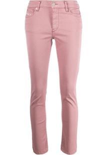 Diesel Calça Jeans Skinny - Rosa