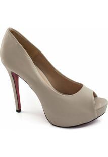 Peep Toe Numeração Especial Sapato Show - Feminino-Nude