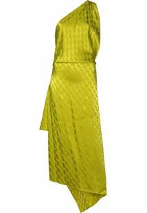 The Attico Vestido Assimétrico Com Fenda - Verde