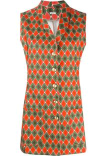 C'Est La V.It Nancy Geometric Mini Dress - Verde