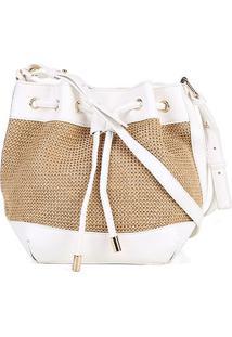 ... Bolsa Shoestock Bucket Palha Feminina - Feminino d60968c7af1