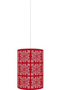 Luminária Pendente Taschibra Renda 104 E27 Vermelha Fosca Autovolt