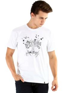 Camiseta Ouroboros Manga Curta Everlasting Sun Masculina - Masculino-Branco