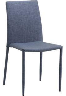 Cadeira De Jantar Glam Cinza Claro Or Design - Cinza - Dafiti