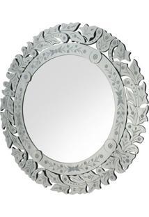 Espelho Veneziano Redondo Hena Cor Prata - 34313 - Sun House