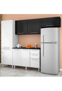 Cozinha Compacta Play 7 Pt 3 Gv Branca E Preta