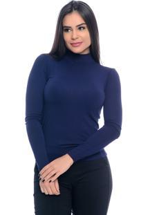 Blusa B'Bonnie Cacharrel Feminina Azul Marinho - Kanui