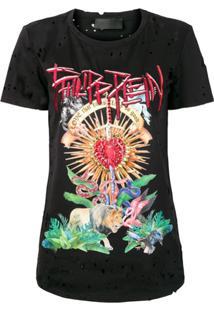Philipp Plein Camiseta Love That Hurts - Preto