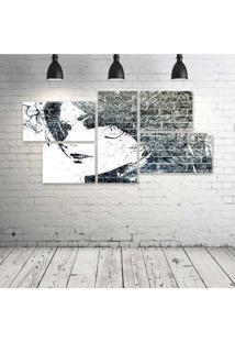 Quadro Decorativo - Girls-Urban-Art - Composto De 5 Quadros