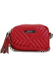 Bolsa Santa Lolla Mini Bag Matelassê Corrente Feminina - Feminino-Vermelho