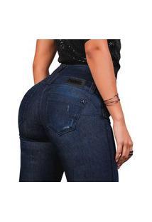 Calça Feminina Pit Bull Jeans 39413 Pitbull Cintura Perfeita Azul