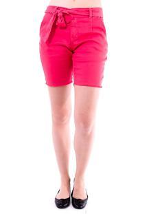 Bermuda Gup'S Jeans Laço Vermelha