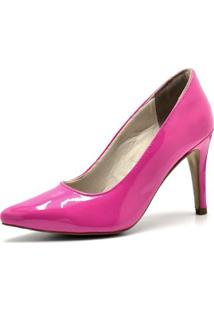Scarpin Dududias10 Verniz - Feminino-Pink