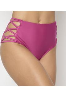 Calcinha Hot Pant Com Tiras - Rosar. Do Sol
