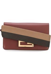 Fendi Baguette Crossbody Bag - Marrom