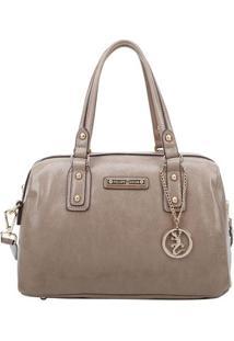 Bolsa Ba㺠Com Recortes & Bag Charm- Bege- 18X32X16Cmfellipe Krein