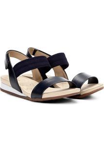 Sandália Modare Com Elástico Feminina - Feminino-Marinho