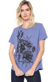 Camiseta Forum Floral Azul