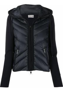 Moncler Knitted Puffer Jacket - Azul