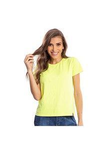 Camiseta Feminina Estonada Malha Premium Lumini - Area Verde