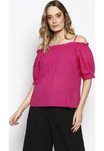 Blusa Ciganinha Com Babados - Pinkchocoleite