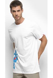 Camiseta Element Barley Masculina - Masculino-Branco